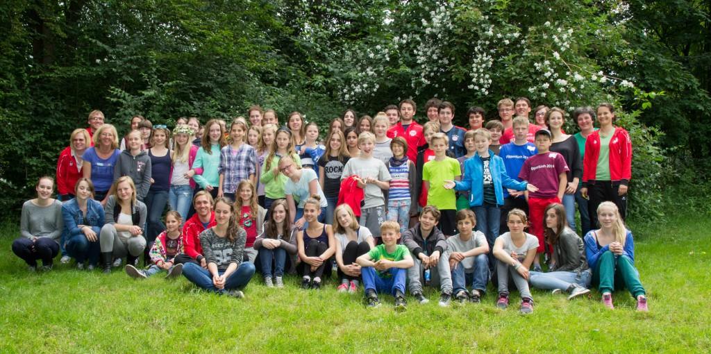 11 Teamer und 55 Teilnehmer, Es fehlt: Lena Reckert