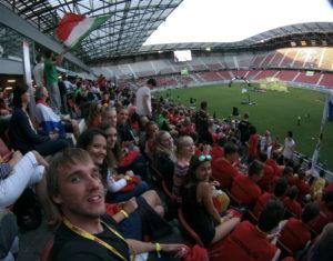 Eröffnungsfeier im Stadion